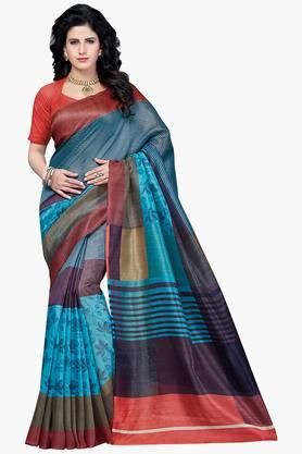 Women Bhagalpuri Art Silk Printed Saree - 202447154
