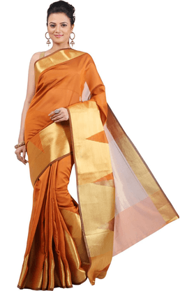 JASHN Womens Tussar Saree