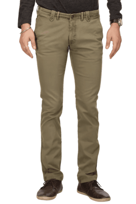 BLACKBERRYSMens Flat Front Slim Fit Solid Chinos