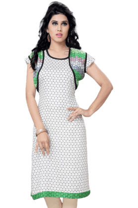 DEMARCA Womens Printed Kurta (Buy Any Demarca Product & Get A Pair Of Matching Earrings Free) - 200936892