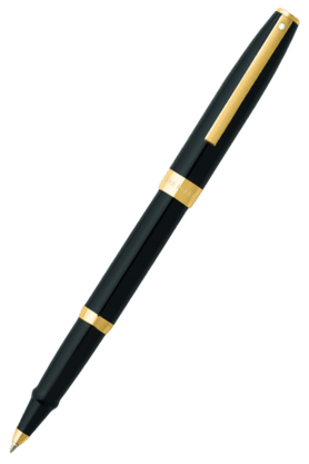 SHEAFFER Sagaris 9471 Black Gold Trim Rollerball Pen