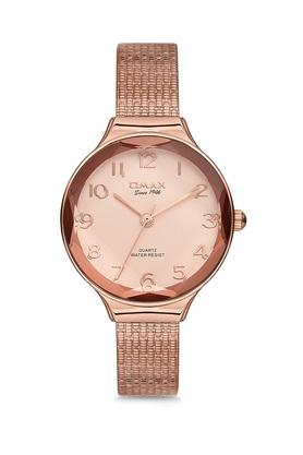 Womens Omax Masterpiece Pink Dial Stainless Steel Analogue Watch - FA19-FMB008600F