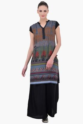 JUNIPER Women Kurta With Thread Work Placket - 202128711