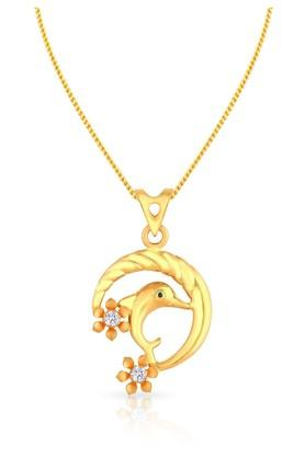 MALABAR GOLD AND DIAMONDS Womens Gold Pendant PDDZCADLA246