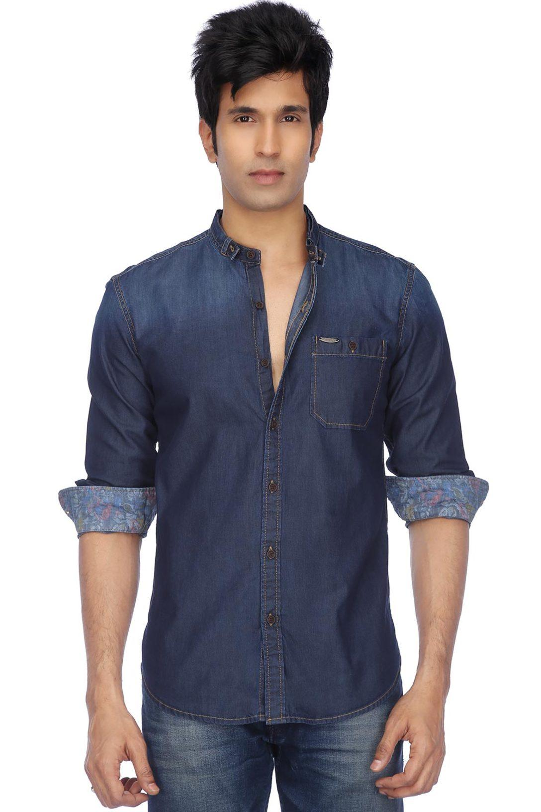 64a513d2a7 Buy U.S. POLO ASSN. DENIM U.S.Polo Assn.-Mens Full Sleeves Slim Fit Casual  Solid Shirt