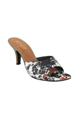 Womens Casual Wear Floral Slip On Heels