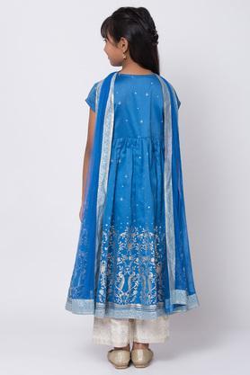 BIBA GIRLS - BlueSalwar Kurta Set - 1