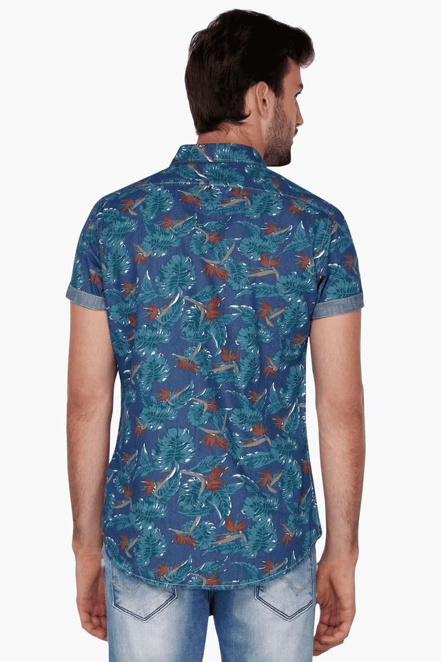b1309aca2e Buy BEING HUMAN Mens Half Sleeves Slim Fit Casual Printed Shirt ...
