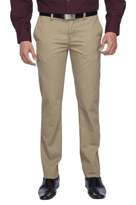ALLEN SOLLYMens Flat Front Slim Fit Solid Chinos - 200247913