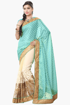 Women Georgette Saree (Buy any Demarca product & get a pair of matching earrings free)