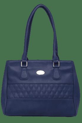 HAUTE CURRYWomens Leather 3 Compartment Zipper Closure Shoulder Bag