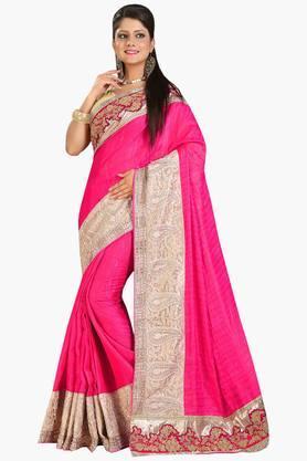 DEMARCAWomen Satin Designer Saree