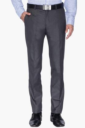 BLACKBERRYSMens 4 Pocket Slim Fit Slub Formal Trousers
