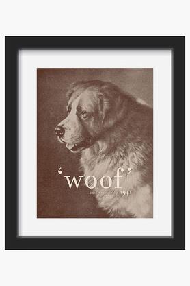 CRUDE AREA Black And White Quote Dog Printed Canvas Art (Medium)  ...
