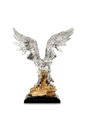 SHAZE Eagle On Rock Figurine