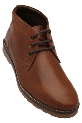 RED TAPEMens Leather Lace Up Casual Shoe
