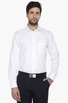 Arrow Ties Formal Shirts (Men's) - Mens Full Sleeves Formal Solid Shirt