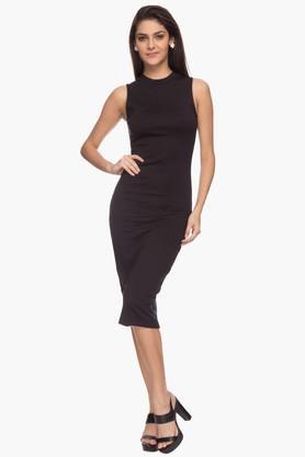 Love Generation Womens Solid Bodycon Dress