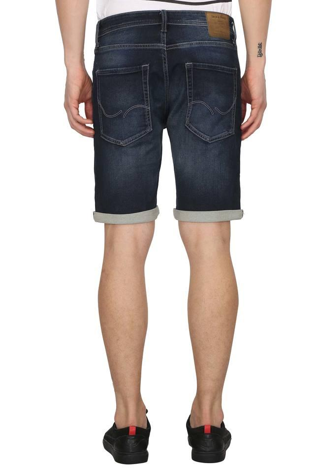 Mens 5 Pocket Whiskered Effect Shorts