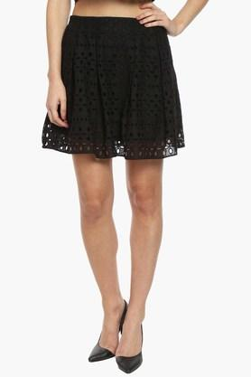 EXCLUSIVE LINES FROM BRANDS Womens Perforated Skirt