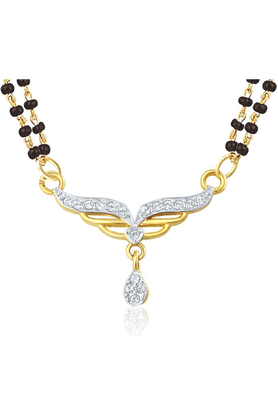 MAHI Mahi Gold Plated Holy Token Mangalsutra Pendant With CZ For Women PS1196004G2
