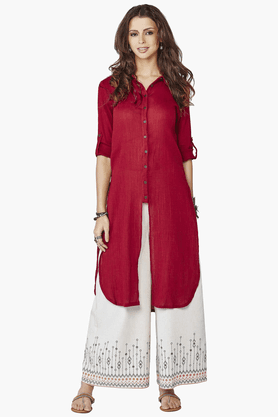 GLOBAL DESI Womens Shirt Style Kurta - 201116302