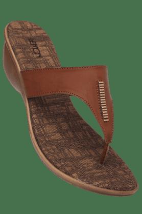 LEMON & PEPPERWomens Soft Footbed Slipon Wedge Sandal - 200312808