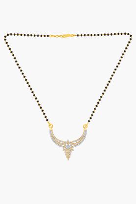 MALABAR GOLD AND DIAMONDSWomens 18 KT Gold And Diamond Mangalsutra