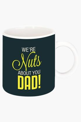 CRUDE AREA Nuts About Dad Printed Ceramic Coffee Mug  ...