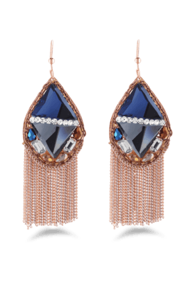 JAZZMulticolor Traditional AD Stone Studded Antique Design Earrings