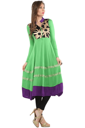 IRA SOLEIL Women Viscose Lycra Long Anarkali Kurta