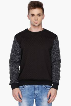 VETTORIO FRATINI Mens Round Neck Colour Block Sweatshirt