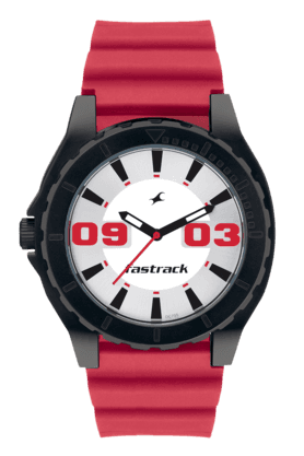 FASTRACK Mens Watch With Red PU Strap - NE9462AP02J