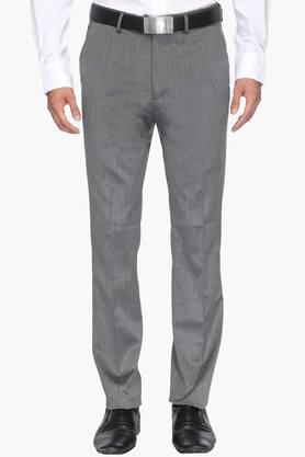 ARROW Mens Tapered Fit 4 Pocket Slub Formal Trousers