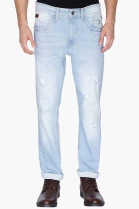 WROGNMens 5 Pocket Slim Fit Mild Wash Jeans - 202046455_8681