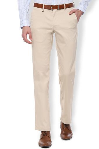 VAN HEUSEN -  CreamFormal Trousers - Main