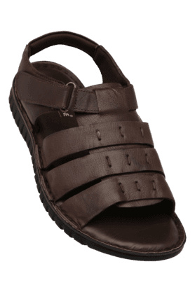 FRANCO LEONE Mens Velcro Closure Casual Sandal
