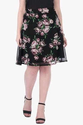 Womens Printed Knee Length Skirt - 202522922