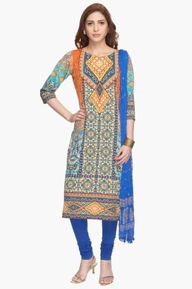 HAUTE CURRY Womens Printed Churidar Suit - 201757198