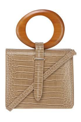 Womens Snap Closure Box Sling Bag