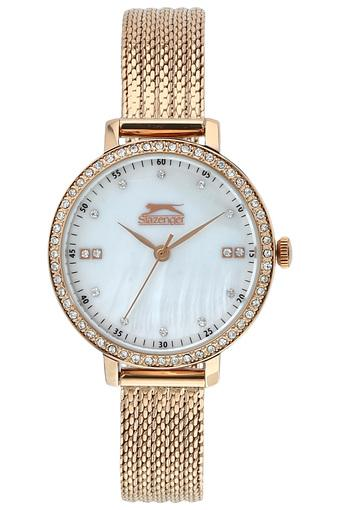Womens White Dial Analogue Watch - SL96090302