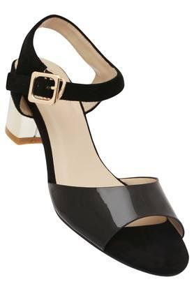 TRESMODE Womens Casual Wear Buckle Closure Heel Sandals