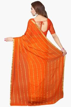 Women Faux Georgette Floral Printed Saree