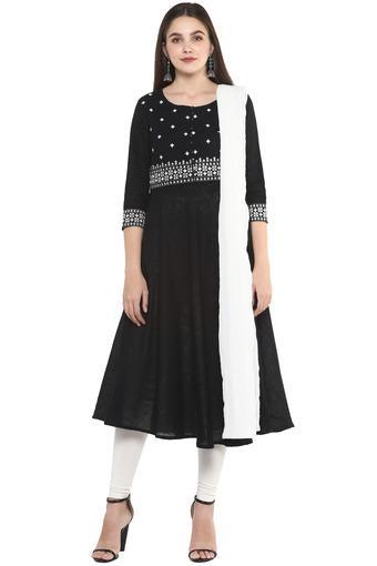 IMARA -  BlackSalwar & Churidar Suits - Main