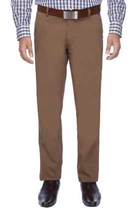 ALLEN SOLLYMens Flat Front Slim Fit Solid Chinos - 200041841