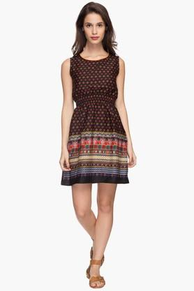 IMARA Womens Printed Casual Short Dress