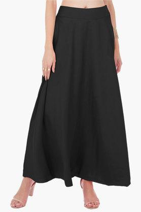 INDYA Womens Solid Long Skirt - 202498079_9212