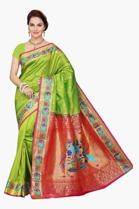 ISHINWomens Poly Silk Brocade Saree - 201628905