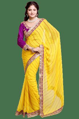 DEMARCAWomen Satin And Chiffon Saree