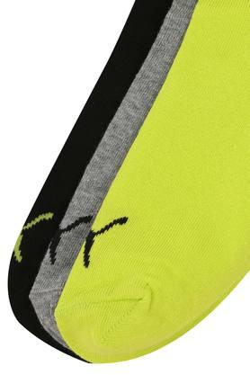 Unisex Solid and Slub Knitted Socks Pack of 3